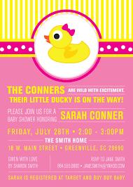 little rubber ducky baby shower invitations duckie modern