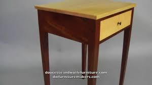 Tiger Maple Furniture Custom End Table Handmade Of Tiger Maple And Mahogany By Doucette