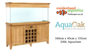 aqua oak 160cm u0027wine rack u0027 aquarium and cabinet youtube
