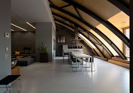 industrial space with arc roof transformed into sophisticated