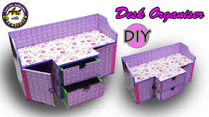 Purple Desk Organizers Diy Desk Organizer Drawer Organizer From Card Board Best Out