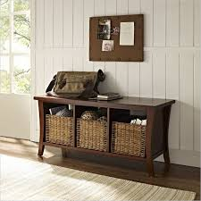 Small Storage Bench With Baskets Small Storage Bench Entryway Small Storage Bench Good Ideas For