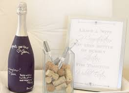 guest book wine bottle chagne bridal shower for pennies