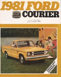 1981 courier ford truck sales brochure