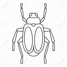 majestic design bug outline printable clip art picture image