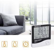 desk alarm clock thermometer hygrometer weather temperature humidity desk alarm