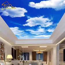 Wall Murals Bedroom by Custom Any Size Blue Sky And White Clouds Ceiling Wallpaper Murals