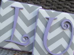 Personalized Nursery Decor We Can Totally Make These Framed Monogram 6x7 Gray And Lavender
