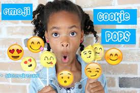 kid kitchen how to make emoji cookie pops youtube