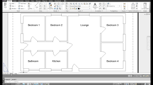 autocad bungalow design timelapse floor plan youtube