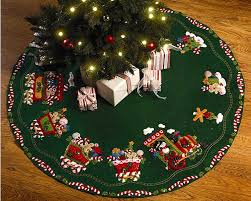 tree skirts candy express 43 bucilla felt tree skirt kit 86158 fth