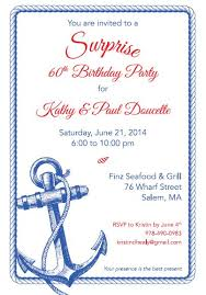 Nautical Theme Birthday Invitations - nautical surprise 60th birthday party u2013 swank events