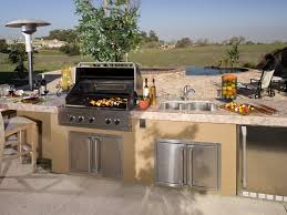 backyard 27 stunning backyard kitchen design beige stained
