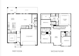 4 bedroom house floor plans awesome 2 story 4 bedroom house plans 7 simple 2 story house floor