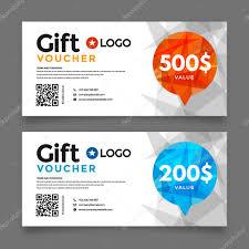 gift voucher template vector graphic design u2014 stock vector