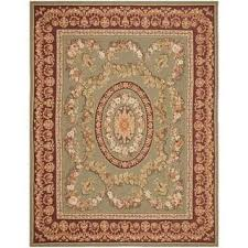 hand knotted french aubusson beige wool area rug 8 u0027 x 10 u0027 free