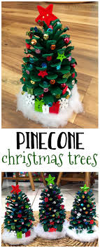 make adorable pinecone trees for a craft