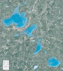 Wall Maps Madison Lakes Chain Enhanced Wall Map