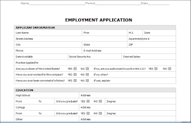Employment Application Template Microsoft Word microsoft word application template employment application template