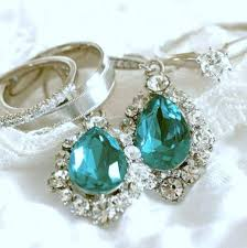 turquoise bridal earrings something blue bridal earrings turquoise bridal jewelry