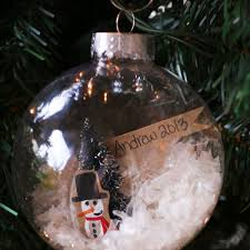 fingerprint snow globe keepsake ornament the s