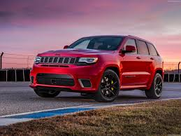 matte red jeep jeep grand cherokee trackhawk 2018 pictures information u0026 specs