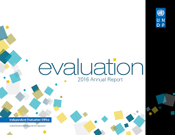 united nations development programme evaluation annual report