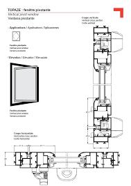 window in plan vertical pivot window