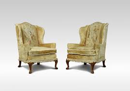 Wing Back Armchairs Wing Chairs Wood Europe Queen Anne The Uk U0027s Premier Antiques