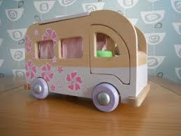 early learning centre elc rosebud wooden camper van early