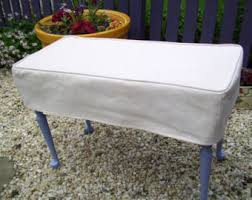 Piano Bench Pad Bench Slipcover With Tailored Skirt Bedroom Bench Cover