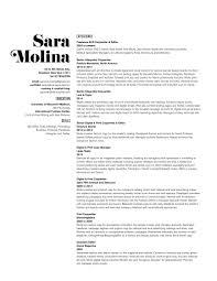 sle of resume pinterest everything fashion resume sara molina