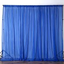 wedding backdrop curtains royal blue 10 x 10 ft voile backdrop curtains wedding home party