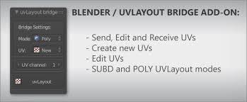 uv layout video tutorial blender to uv layout bridge