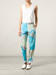 World Map Jacket by Filles A Papa World Map Trousers In Blue Lyst