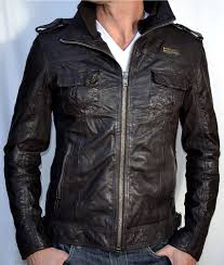 brown leather motorcycle jacket superdry ryan men u0027s leather motorcycle jacket biker new