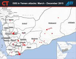 Map Of Yemen Challenging The Yemeni State Isis In Aden And Al Mukalla