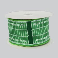 ribbon with wire 2 5 football field yardline wire edge ribbon 10 yards