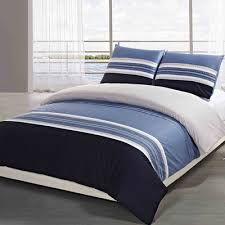 new reversible blue and white stripe duvet cover 100pct cotton