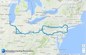 Connecticut New York Map by Fun Maps Bike Over 1 100 Miles From Chicago To Nyc On This