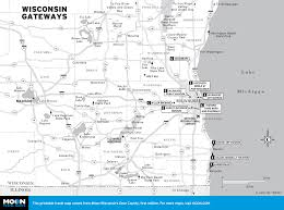 Map Of Northern Wisconsin by Printable Travel Maps Of Wisconsin Moon Travel Guides