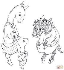 coloring pages marvelous llama coloring pages meets the teacher