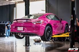 porsche pink porsche boxster exhaust porsche tech day borlaborla