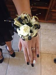 Cheap Corsages For Prom Black And Gold Corsage Created By Cs Events And Floral Las Vegas