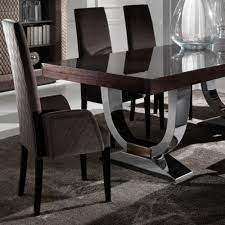 italian extendable dining table modern round dining table set large modern italian veneered