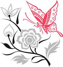 butterfly and flower design vector illustration sau kit lai