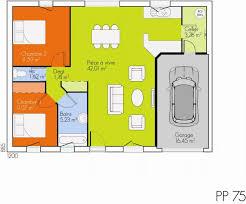 plan maison plain pied 2 chambres garage plan maison plain pied 2 ravissant plan de maison 2 chambres idées