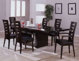 Black Dining Room Set Coaster Modern Dining Contemporary Dining Room Set With Glass