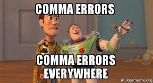 Comma Meme - comma errors comma errors everywhere buzz and woody toy story