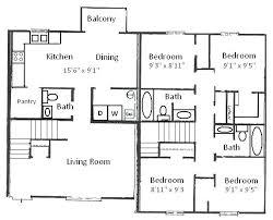 floor plans for 4 bedroom houses 4 bedroom ranch house plans 4 bedroom floor plans four house or by